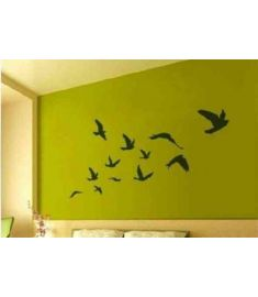 Large size Free Shipping Pretty Birds flying Wall Art Vinyl Decoration Removable Sticker(200CMX110CM),P2020