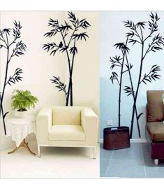 DIY Art Black Bamboo Quote Wall Stickers Decal Mural Wall Sticker For Home Office Bedroom Wall Stickers Decor