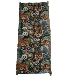 Textile Art Hanging-Kung Fu Panda Tapestry 15 x 54 inches