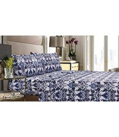 Catalina double bed sheet percale T-300 with pillowcases