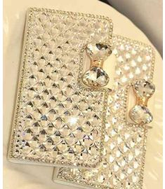 Bling Handmade Crystal Diamond Rhinestone Leather Cover for iPhone 5s for iPhone 6 Plus 5.5