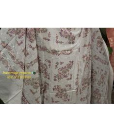 Handmade Pure Lawn Shawl Full Embroidered Tarkashi Work with Shadow embroidery