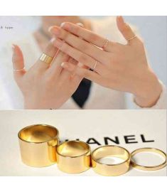 4pcs/set Alloy Punk Lord Nails Ring Combination Rings