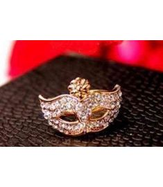 Rhinestone exquisite Mask ring jewelry