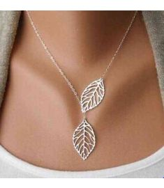 Vertical Tree leaf Charm Infinity Pendant Necklace