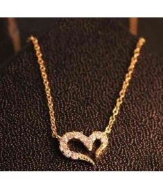 Vintage Misha Barton Love Heart Necklace