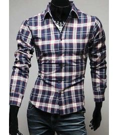 Stitching Striped Shirt Men Short Sleeve Camisa Jeans