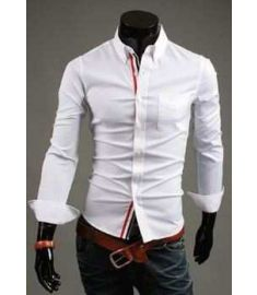 Slim fit  stylish Dress 2015 long Sleeve Shirts size M-XXXL