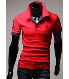 Double collar lapel Wireless Laptop Mens T Shirt
