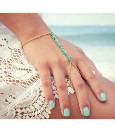 Handmade Beads Bracelet Tassel Chain