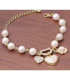 Flexible Metal Gold Chain Bracelets Bangles