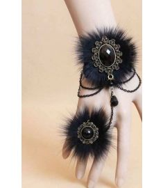 Vintage Bracelets For Women With Real Fox Feather