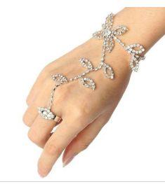 Leaves Flower Hand Harness Women Jewelry