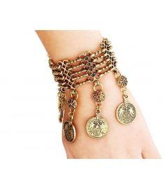 Vintage Jewelry Silver Coin Wrap Bracelet
