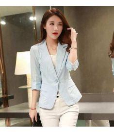 Spring Jackets Cotton Linen Suit