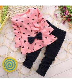 Bow Tie T-sirt  Pants long sleeve