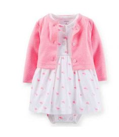 Cotton Romper Dress Infants Cardigan Jacket