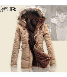 Winter Men Coat Lamb Wool Thick Padded