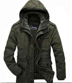 High Quality Casual Cotton Padded Winter Jacket For Men