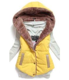 Womens Cotton Jacket Sleeveless Women Coat Hoody