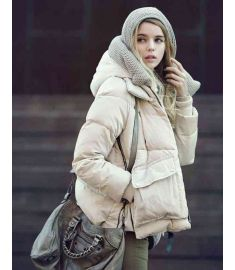 Womens Short Loose Park Casual Duck Down Parkas