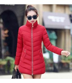 Womens Fur Collar Long Coat