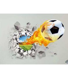3D Football  Background Wall Sticker
