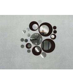 Circles Acrylic Mirror Style Wall Clock