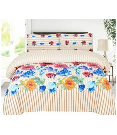 3 Piece Printed Quilt Set Bedspread with quilt cover and pillow cover