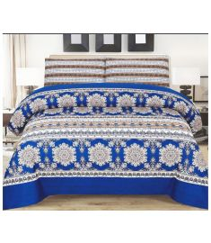 Printed Quilt Set Bedspread with quilt cover and pillow cover