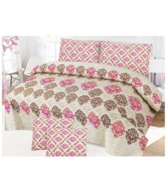 3 Piece Printed Quilt Set Bedsheet cover and pillow cover