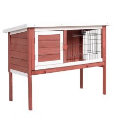 Wooden Rabbit Chicken Small Animal Cage House with Tr