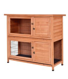 "48"" Wooden Outdoor Rabbit House Hutch with Ladder"