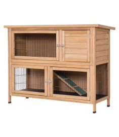 "52"" Outdoor Garden Bacard Wooden Rabbit Hutch"