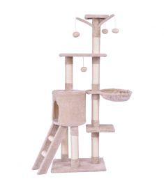 "56"" Condo Scratching Posts Ladder Cat Pl Tree"