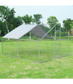 Large Walk in Shade Cage Chicken Coop with Roof Cover-13'