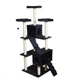 "70"" Condo Sisal-Covered Scratching Posts Cat Tree-Na"