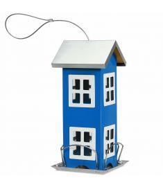 Outdoor Gardenard  Wild Bird Feeder Weatherproof House-Blue