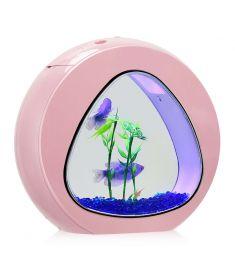 1Gallon Fish Aquarium Tank with Filter Air Pump-Pink