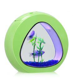 1Gallon Fish Aquarium Tank with Filter Air Pump-Green