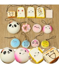 13PCS Simulated Bread Phone Pendant Phone Strap Cute Decoration