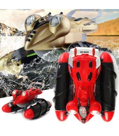 LX 1/14 9025 2.4G 4WD RC Car Amphibious StuntWith Light All-Terrain Off-Road Waterproof Truck Toys