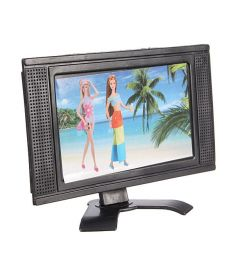 Plastic Toy Flat Screen Furniture For Dollhouse Detachable LCD TV Televi