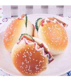 6.5CM Random Squishy Simulation Hamburger Bread Fridge Magnet Decoration