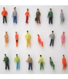 1:75 Scale OO Gauge Hand Painted Layout Model Train People Figure