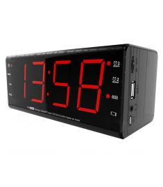 JSY Alarm Clock FM Radio TF Card Wireless bluetooth Speaker with Mic for Xiaomi Samsung S8 iPhone X