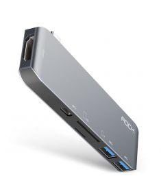 Rock Type-C To 4K HDMI / 2 Ports USB 3.0 USB Hub / Type-C Hub / TF/SD Card Slot Adapter