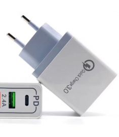 Bakeey QC3.0 PD Type C Fast Charging EU Plug USB Charger Adapter For iPhone 11 Pro Huawei P30 Mate 30 Xiaomi 9 Pro S10+ Note10