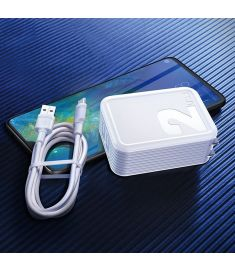 Baseus 2.1A Dual USB Fast Charging Travel Charger With USB to Type-C Data Cable For Huawei P30 Mate 20Pro Xiaomi Mi8 Mi9 S10 S10+