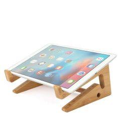 Multifunctional Wooden Detachable Desktop Stand Holder for Macbook Laptop Tablet Phone Keyboard
